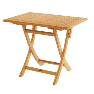 ARB Teak & Specialties Rectangle Outdoor Balcony Table 23.5-in W x 35.25-in L