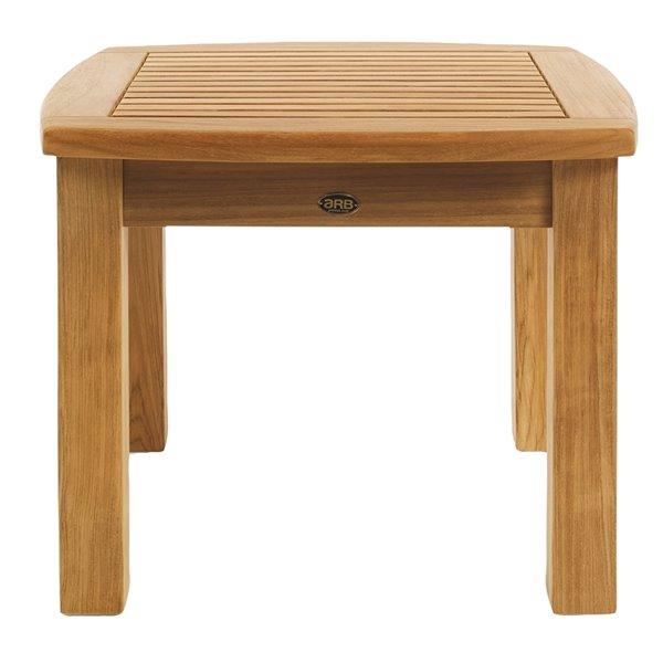 Table basse extérieure Colorado carrée 39-in W x 39-in L par ARB Teak & Specialties