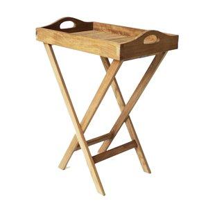 ARB Teak & Specialties Natural Teak Wood Teak Foldable Outdoor Serving Cart