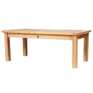 Table basse extérieure Colorado rectangulaire 24-in W x 50-in L par ARB Teak & Specialties