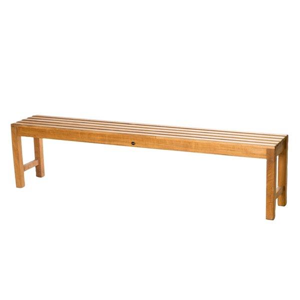 Siège de douche sur pied 71 po en bois de teck naturel par ARB Teck & Specialties (conforme à l'ADA)