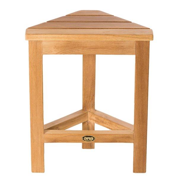 Repose-pied de coin de douche sur pied en bois de teck naturel par ARB Teck & Specialties (conforme à l'ADA)