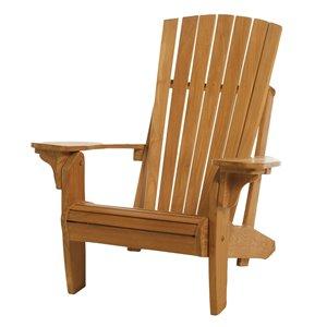 ARB Teak & Specialties Natural Teak Wood Adirondack Chair With Slat Seat