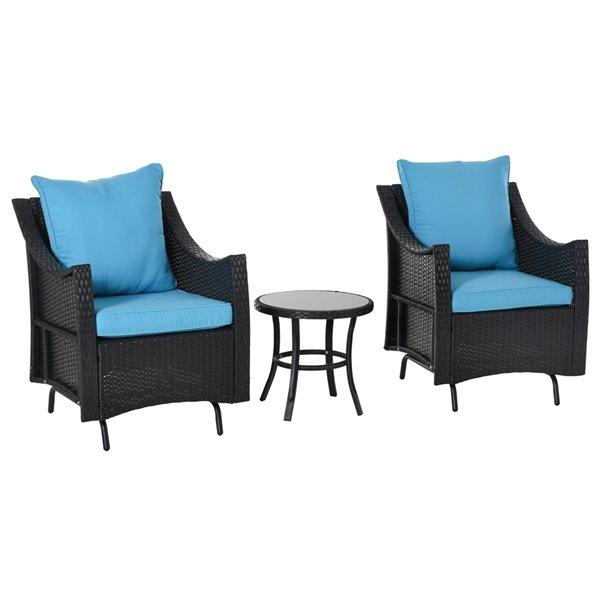 Blue Steel Outdoor Glider 863 073, Outdoor Glider Chair Set