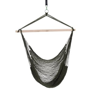Outsunny Hanging Chair Black Fabric Hammock Chair