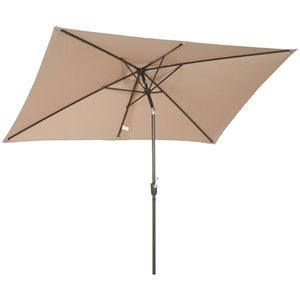 OutSunny The Sun Umbrella 9.68-ft Garden Patio Umbrella No-tilt - Tan