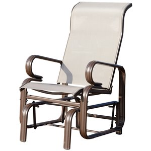 OutSunny Rocking Chair 1-person Brown Aluminum Outdoor Glider