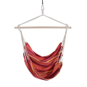 Outsunny Hanging Chair Red Fabric Hammock Chair