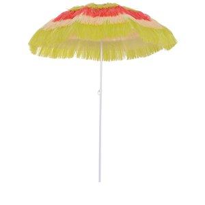 OutSunny The Sun Umbrella 5.25-ft Red Garden Patio Umbrella No-tilt