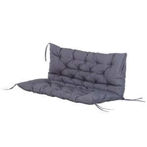 Outsunny Unbranded 1-piece 2-Seater Grey Patio Bench Cushion