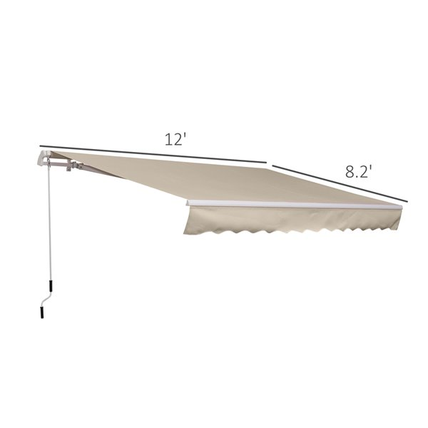 OutSunny 10-in W x 11-in Projection Brown Solid Slope Low Eave Window/door Fixed Awning