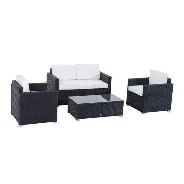 Outsunny 4pcs Rattan Wicker Sofa Garden, Outsunny Outdoor Furniture
