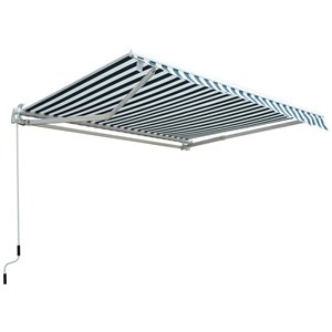 OutSunny 84-in W x 84-in Projection Green Stripe Slope Low Eave Window/door Manual Retraction Awning