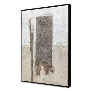 Peinture abstraite avec cadre en plastique noir 32 po x 24 po par Gild Design House