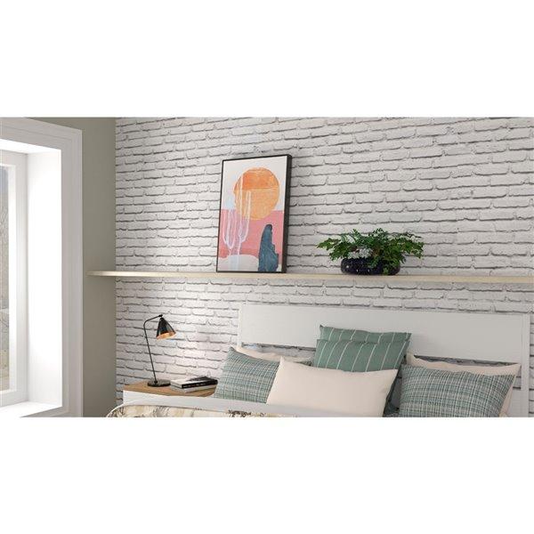 Peinture botanique avec cadre en plastique brun 30 po x 20 po par Gild Design House