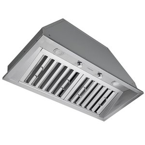 Ancona 34 In Ducted Stainless Steel Undercabinet Range Hood Insert