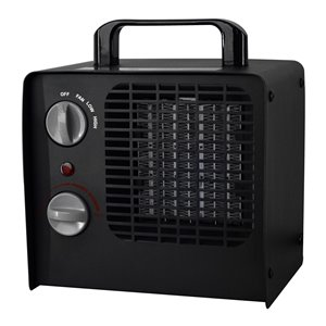 Modern Homes Retro Look 1500 W Ceramic Compact Personal Indoor Electric Space Heater Thermostat
