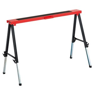 Tool Master 3.5-in W x 25-in H Adjustable Steel Saw Horse (265-lb Capacity)