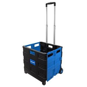 Diable pliable en plastique bleu à 4 roues 80 lb de Toolmaster