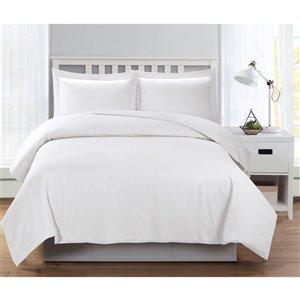 Ensemble de housse de couette blanc grand lit par Swift Home, 3 mcx