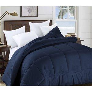 Couette en polyester avec rembourrage en polyester marin uni, lit une place, par Swift Home