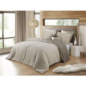 Ensemble de housse de couette kaki très grand lit par Swift Home, 3 mcx