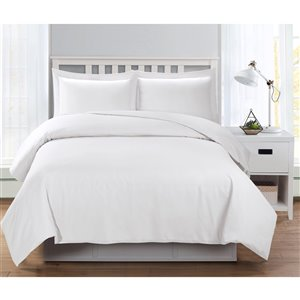 Ensemble de housse de couette blanc lit à une place par Swift Home, 2 mcx