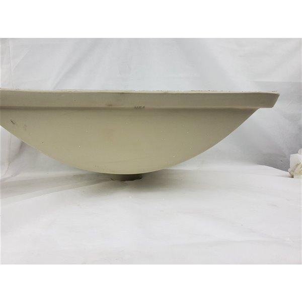 Lavabo de salle de bains sous comptoir de American Imaginations en céramique blanche 11,5 po x 18 po