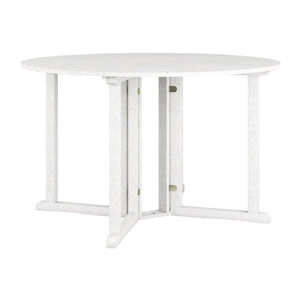 Table de salle à manger ronde pour l'extérieur Miramar avec trou pour parasol par Corliving, 47 po l x 47 po L
