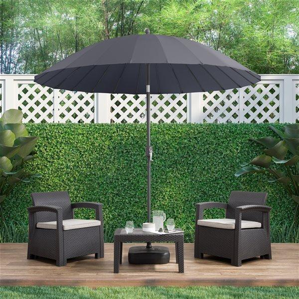 Parasol de patio gris pour jardin