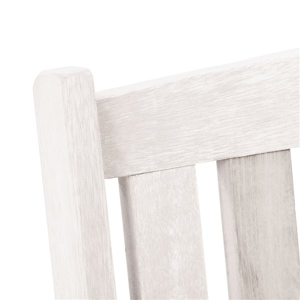 Mobilier de conversation pour l'extérieur Miramar en bois avec coussins par Corliving, lot de 3