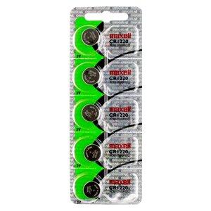Piles bouton Maxell au lithium CR1220, paquet de 5