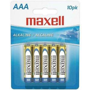 Piles Maxell alcalines AAA, paquet de 10