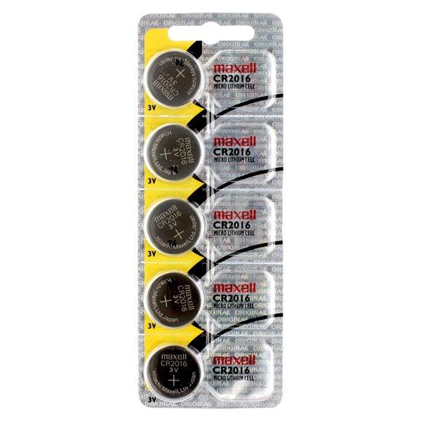 Piles bouton Maxell au lithium CR2016, paquet de 5