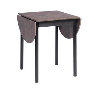 Table de salle à manger ovale extensible Deane standard (30po H) par FurnitureR, plateau en composite et base en métal noir
