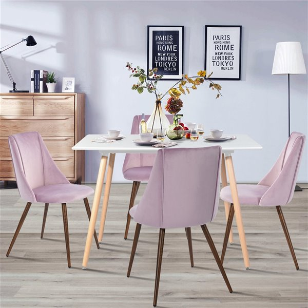 Table de salle à manger rectangulaire fixe Rookie standard (30po H) par FurnitureR, plateau en composite et base en chêne