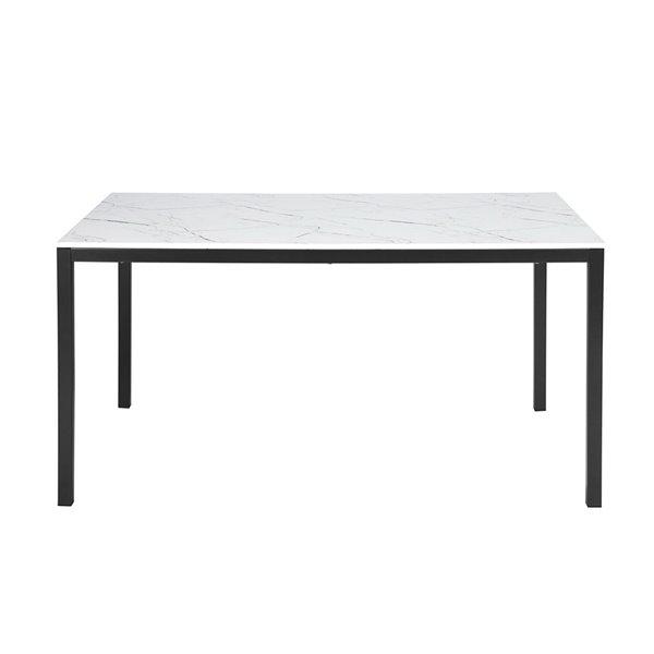 Table de salle à manger rectangulaire fixe Brandt standard (30po H) par FurnitureR, plateau en composite et base de métal no