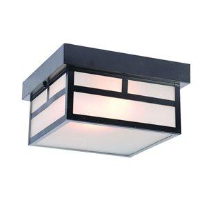 Plafonnier extérieur Artisan noir mat câblé, 10,25 po l. par Acclaim Lighting