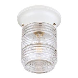 Plafonnier extérieur Builders' Choice blanc câblé, 4,8 po l. par Acclaim Lighting