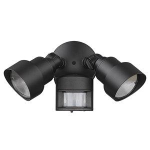 Lumière de sécurité 240 degrés noire câblée à détecteur de mouvement avec DEL intégrée, 1240 lumens, par Acclaim Light