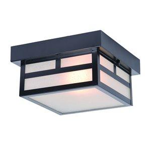 Plafonnier extérieur Artisan noir mat câblé, 8,25 po l. par Acclaim Lighting
