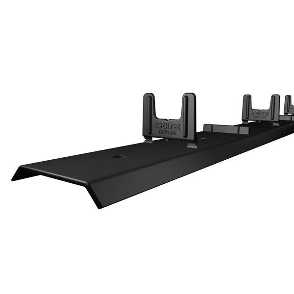 Système de terasse noir en plastique avec protection de solives, paquet de 6