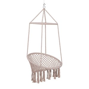 Outsunny Hanging Woven Beige Hammock Chair