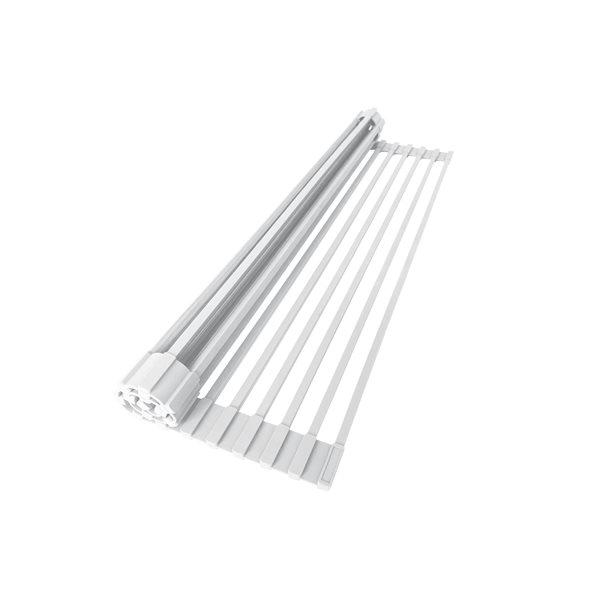 Stylish Support de séchage enroulable blanc en acier inoxydable de 20,5 po