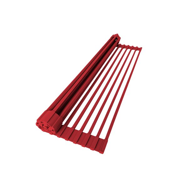 Stylish 20.5-in Red Roll-Up Stainless Steel Drying Rack