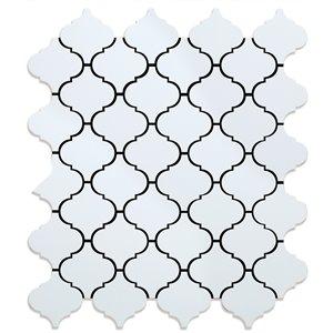 Tuile murale en aluminium poli Marrakesh de Speedtiles, 11 po x 11 po, blanc, paquet de 6