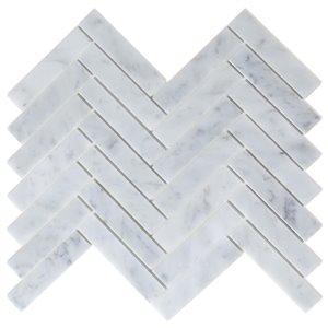 Tuile murale en pierre naturelle/marbre Oahu de Speedtiles, 12 po x 12 po, blanc, paquet de 6