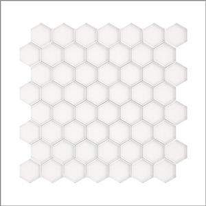 Échantillon de tuile murale en verre Sea Breeze de Speedtiles, 4 po x 4 po, blanc