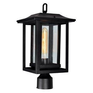 CWI Lighting Winfield 60 Watts 16.9-in Black Farmhouse Pier Mount