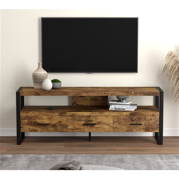 Safdie & Co. Brown Reclaimed Wood TV Stand